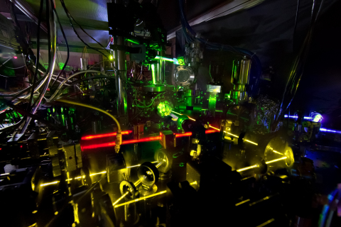 Caption: Researchers have measured this ytterbium optical clock's ticking with record-breaking accur ...