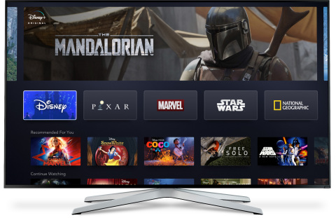 The Disney+ service will be available on a wide range of mobile and connected TV devices. (Photo: Bu ...