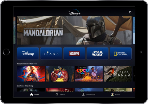 The Disney+ service will be available on a wide range of mobile and connected TV devices. (Photo: Business Wire)