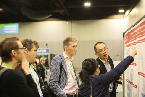 "Dr. Jijun Yuan, CEO of Shanghai Genbase Biotechnology, presents ""High Affinity Anti-CLDN18.2 Antibody for the Treatment of Gastric/Pancreatic Cancer"" at the AACR Annual Meeting 2019 in Atlanta, Georgia. (Photo: Business Wire)"