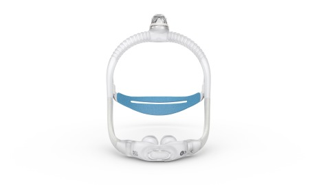 AirFit P30i nasal pillows tube-up CPAP mask, front view (Photo: Business Wire)