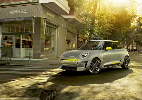 The MINI Electric Concept gives an early glimpse of the MINI Cooper S E electric vehicle coming in early 2020. (Photo: Business Wire)