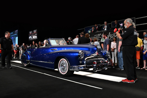 This 1947 Buick Super 8 Custom Convertible (Lot #735) sold for $412,500 during the 2019 Barrett-Jackson Palm Beach Auction (Photo: Business Wire)