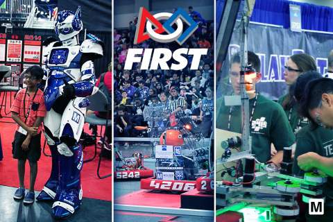 Mouser Electronics proudly sponsors the 2019 FIRST Robotics Competition Hall of Fame at the FIRST Championship, April 17-20 in Houston, and April 24-27 in Detroit. (Photo: Business Wire)