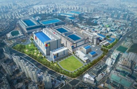 Samsung's new EUV manufacturing line in Hwaseong, Korea. (Graphic: Business Wire)