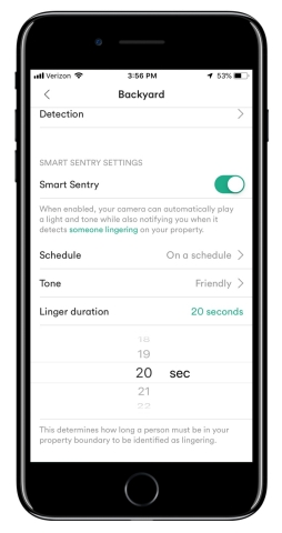To avoid getting too many notifications, you decide when you want to turn on the Vivint Outdoor Camera Pro Smart Sentry notifications, whether all the time, on a specific schedule, or only when your Vivint smart home system is armed. (Photo: Business Wire)