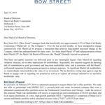Bow Street Letter To Mack-Cali Board