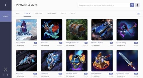 Enjin Multiverse blockchain gaming assets pictured on EnjinX.io (Photo: Business Wire)