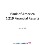 Q1 2019 Bank of America Investor Relations Presentation