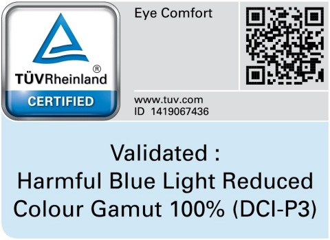 """Samsung Galaxy Fold's display has been awarded an """"Eye Comfort"""" certification from TÜV Rheinland (Graphic: Business Wire)"""