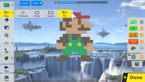 Players with big ideas for a personalized Super Smash Bros. Ultimate stage can let their creativity run wild with the new Stage Builder mode. By using in-game tools, players can add moving platforms, spinning traps and other unique features to their customized stages. (Photo: Business Wire)