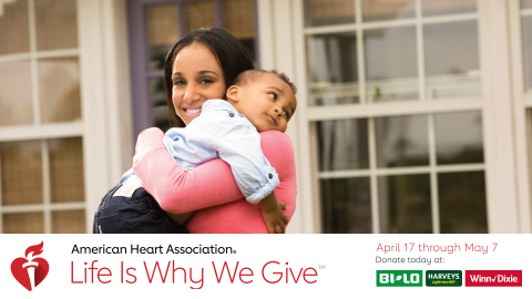 BI-LO, Harveys Supermarket and Winn-Dixie grocery stores has partnered with the American Heart Assoc ...