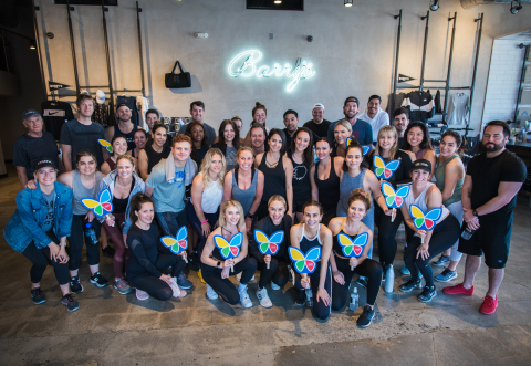 The LadyGang trio of Becca Tobin, Keltie Knight and Jac Vanek hosted a class at Barry's Bootcamp in  ...