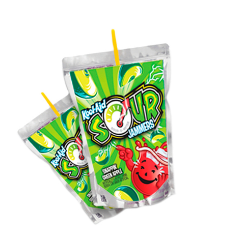 Kool-Aid Sour Jammers come in five bold and fruity flavors: Watermelon Slam, Zappin' Tropical Punch, Snappin' Green Apple, Shockin' Blue Raspberry and Electric Lemon Lime. (Photo: Business Wire)