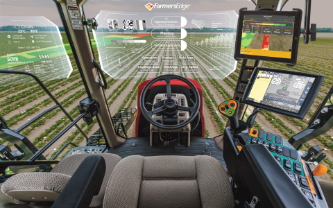 Farmers Edge new In-Cab Tool delivers a seamless digital experience from the office to the cab. (Photo: Business Wire)