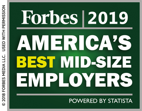 """Zebra Technologies has been named to Forbes' list of """"America's Best Employers."""" (Graphic: Business  ..."""