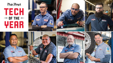 Pep Boys Announces 'Tech of the Year' Winners, automotive service providers recognized for outstanding performance, including work quality and volume, customer service excellence and a commitment to continuing education. (Photo: Business Wire)