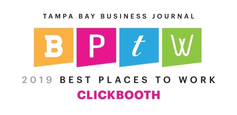Clickbooth Places Second for Tampa Bay Business Journal's 2019 Best Places to Work Award (Photo: Business Wire)