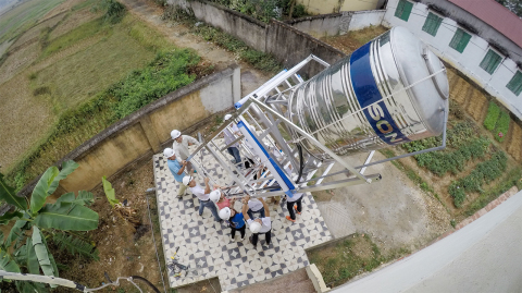 Since Columbia's work with Planet Water Foundation began, the company has funded 9 water towers acro ...