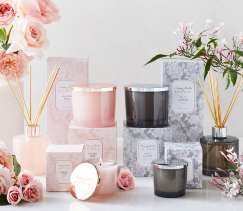 Monique Lhuillier & Pottery Barn home fragrance collection (Photo: Business Wire)