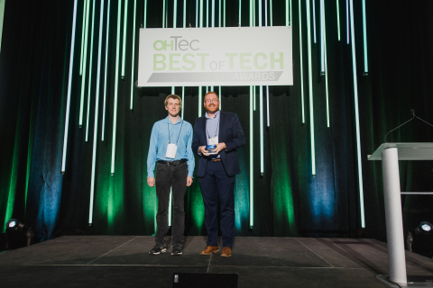n2y proudly accepts OHTec's 2019 Best of Tech Award for its groundbreaking behavior management program, Positivity. (Photo: Business Wire)