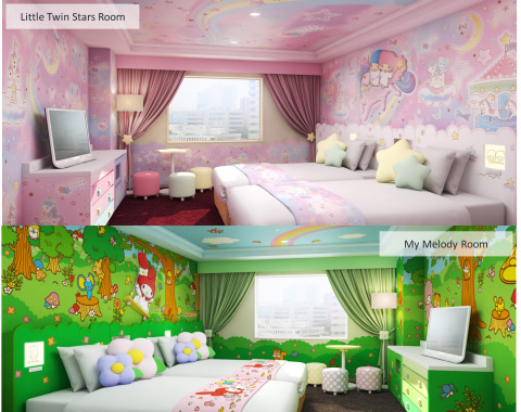 "New Sanrio characters rooms, including two rooms each in the themes of ""My Melody"" and ""Little Twin Stars"" (Kiki and Lala) will be opened on Saturday June 15, 2019. (c)1976, 2019 SANRIO CO., LTD. (Photo: Business Wire)"