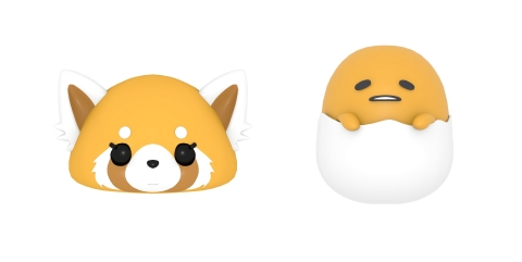 Sanrio anime characters Aggretsuko and Gudetama join library of AR Emoji on Baidu's Facemoji Keyboard app. (Photo: Business Wire)