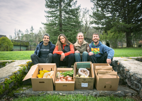 The FlowCSA initiative has been an evolving vision between Flow Kana co-founders Michael Steinmetz and Flavia Cassani and Amber and Casey O'Neill of HappyDay Farms since the company's inception. (Photo: Business Wire)