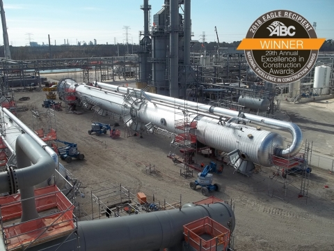 ABC presented S & B with a National Excellence in Construction® Eagle Award for the Lone Star NGL Frac V project. S & B performed engineering, procurement and construction for a new 120,000 BPD NGL fractionation unit in the Mont Belvieu, Texas NGL processing hub. (Photo: Business Wire)