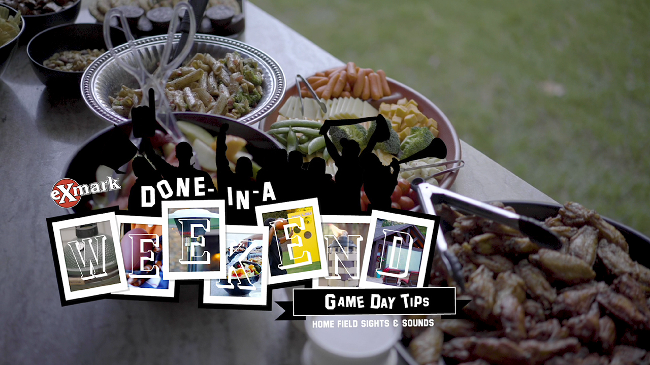 In the second video of Exmark's 2019 Game Day Tips series, Home Field Sights and Sounds, Matt Stinchcomb offers two cost-effective options for presenting an authentic home field feel at your next game day gathering.
