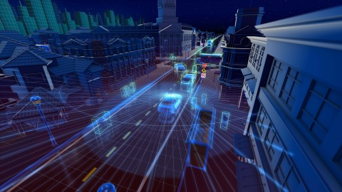 Velodyne lidar sensors can simultaneously locate the position of people and objects around a vehicle and assess the speed and route at which they are moving. (Graphic: Business Wire)