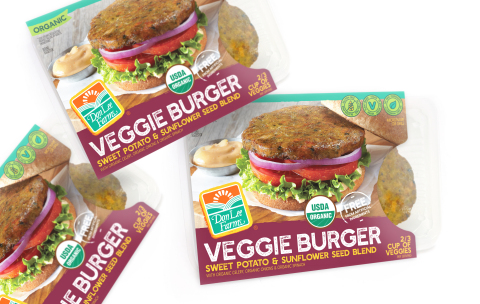 Don Lee Farms® Organic Veggie Burger, Sweet Potato & Sunflower Seed Blend (Plant-Based) (Photo: Business Wire)