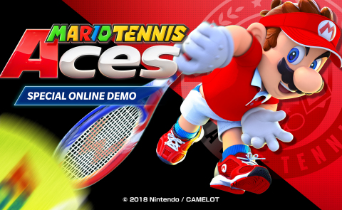 Get ready to swing into action with the Mario Tennis Aces: Special Online Demo, which is active only from noon PT on April 26 to 9 p.m. PT on April 28. (Graphic: Business Wire)