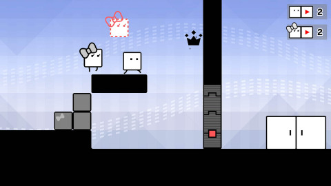 The BOXBOY! + BOXGIRL! game is available April 26. (Graphic: Business Wire)