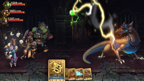 Lead a party of aspiring heroes through a beautifully hand-drawn world and intense battles using only your wits and a handful of cards in SteamWorld Quest: Hand of Gilgamech. (Graphic: Business Wire)