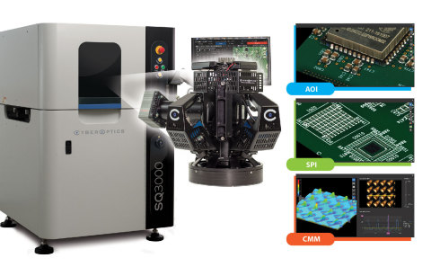 3D SQ3000 Multi-Function System for AOI, SPI and CMM (Photo: CyberOptics).