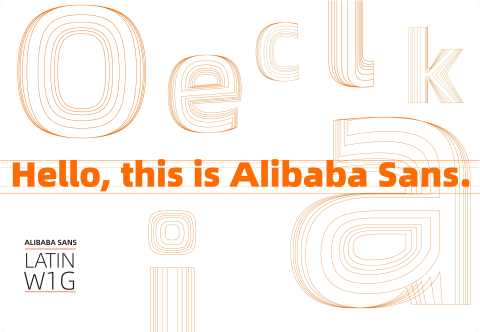 The Alibaba Sans typeface family helps unify Alibaba Group's branding across its vast international apps, platforms and websites. (Graphic: Business Wire)