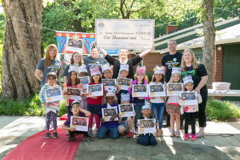 Treetops School International in Euless, Texas, recognized for publishing the 15 millionth student-published book with Studentreasures Publishing, awarded $1,000. (Photo: Business Wire)