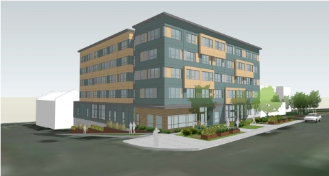 Compass Health Broadway Campus Redevelopment Phase One rendering courtesy of Environmental Works. (Photo: Business Wire)