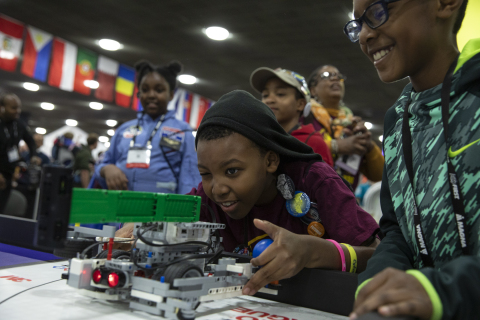 FIRST LEGO League students compete at FIRST Championship in Detroit. (Photo: Business Wire)