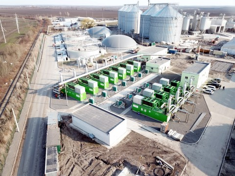 World's largest biogas plant with 18 Jenbacher gas engines, designed and erected by Zorg Biogas AG C ...