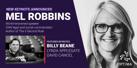 Mel Robbins will be the closing keynote speaker at OPTIMA 2019, the premier talent optimization conf ...