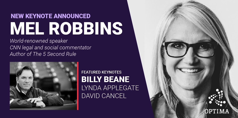 Mel Robbins to Speak at OPTIMA 2019, Super Early-Bird Registration