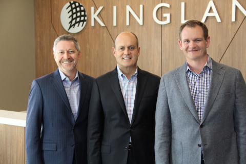 Kingland CEO Todd Rognes, Chairman of the Board David Kingland, and President Tony Brownlee (Photo:  ...