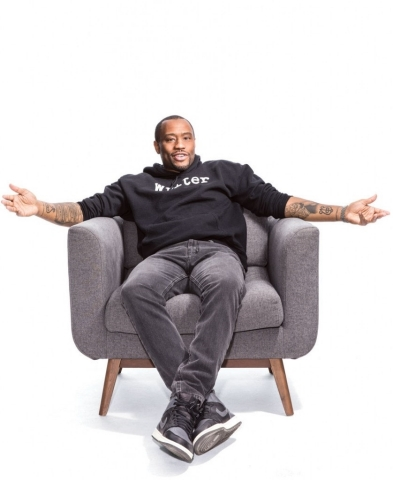 """Host Marc Lamont Hill of BET Digital's new daily talk show """"BLACK COFFEE."""" Photo credit: Colin Lenton/BET Networks"""