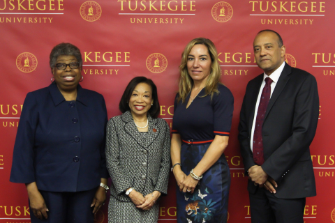 L-R: Roberta Troy, Ph.D., Provost, Tuskegee University; Lily McNair, Ph.D., President, Tuskegee University; Lisa W. Wardell, President and Chief Executive Officer, Adtalem Global Education; William F. Owen, M.D., FACP,  Dean and Chancellor, Ross University School of Medicine. (Photo: Business Wire)