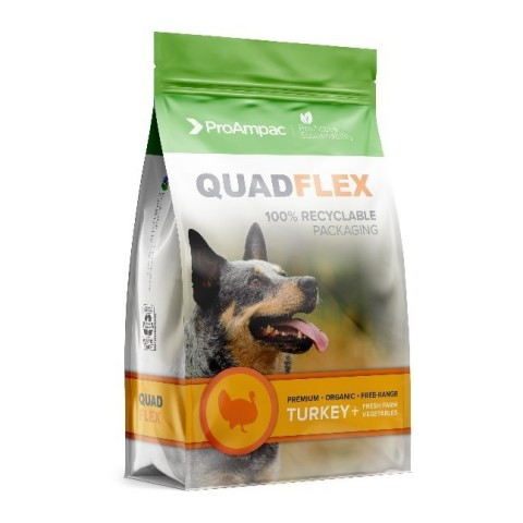QuadFlex Pouch® is a 100% recyclable ProActive Sustainability® flexible-packaging product from ProAm ...