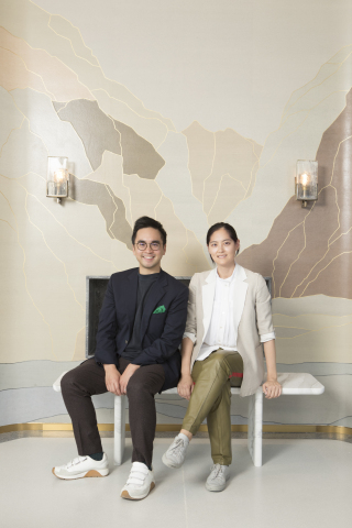 Mr. Adrian Cheng, Founder of K11, Executive Vice-Chairman and General Manager of New World Development with Ms. Joyce Wang, internationally acclaimed interior designer for the K11 ARTUS penthouse. (Photo: Business Wire)