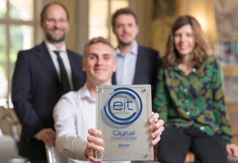 Lucky winners of the EIT Digital Challenge 2018: Italian scaleup Enerbrain (Photo: Business Wire)
