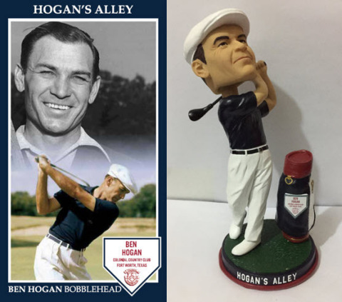 To further embrace the spirit of Throwback Thursday, fans who make a charitable donation to The First Tee of Fort Worth will also receive a commemorative Ben Hogan bobblehead, while supplies last. (Photo: Business Wire)